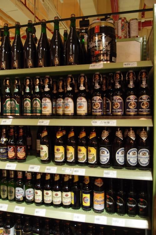 Rows of German beer
